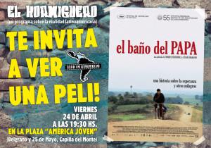AFICHE 24-04-2015 EL BAÑO DEL PAPA-01