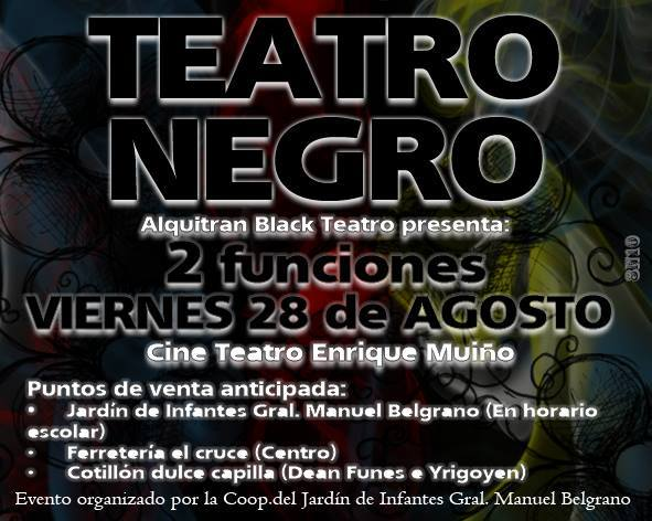 teatro negro en capilla