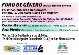 Afiche_Foro de Genero_Septiembre2015