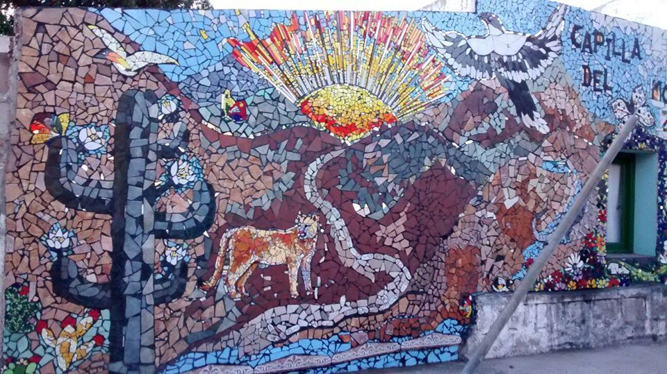 Artistas regionales realizan mural con t cnica de mosaiquismo for Dibujos para mosaiquismo
