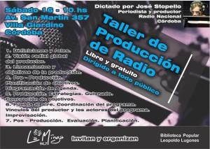 Taller Producción radio La Minga