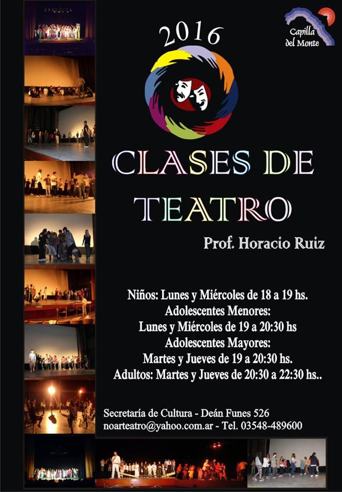 Clases de teatro Horacio Ruiz