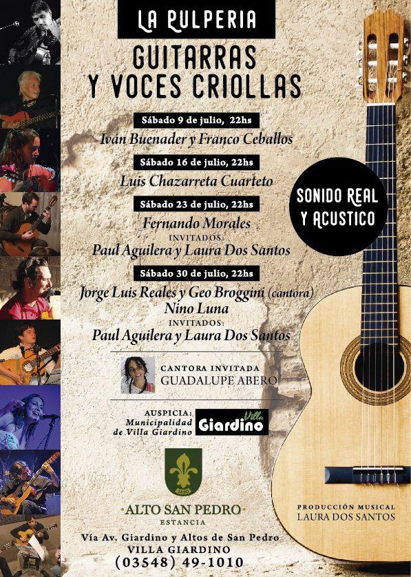 guitarras y voces criollas