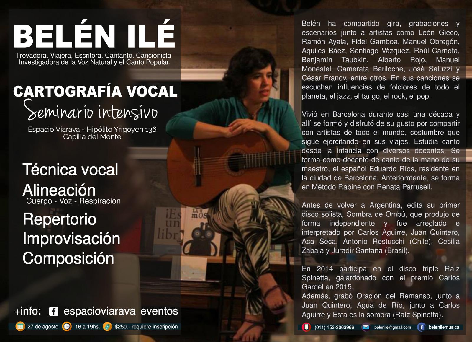 Belen Ile afiche cartografía vocal con biografia comp
